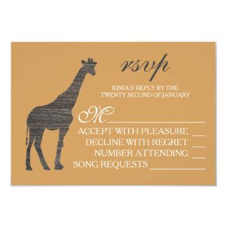 Het elegante Huwelijk RSVP van de Giraf van de Kaart