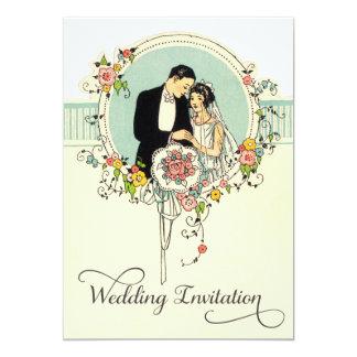 Het elegante Huwelijk van de Bruid & van de 12,7x17,8 Uitnodiging Kaart