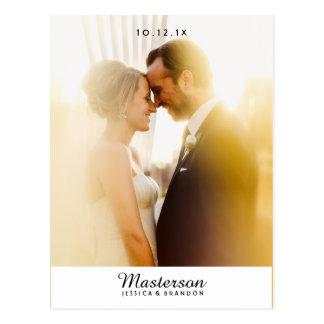 Het elegante Huwelijk van de Foto dankt u Briefkaart
