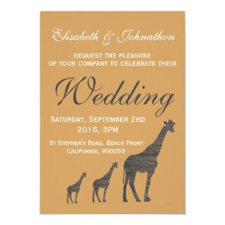 Het elegante Huwelijk van de Giraf van de Klei Kaart