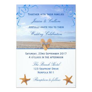 Het elegante Huwelijk van de Zeester & van het 12,7x17,8 Uitnodiging Kaart