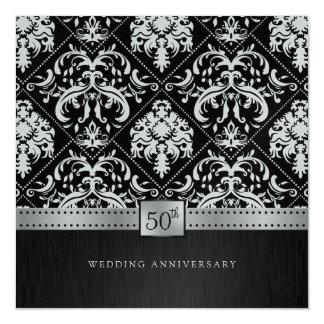 Het elegante Jubileum van het Huwelijk van de 13,3x13,3 Vierkante Uitnodiging Kaart