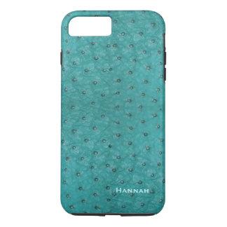 Het elegante Leer van de Struisvogel Aqua kijkt iPhone 8/7 Plus Hoesje