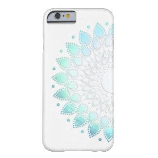Het elegante Lichtblauwe Groene Motief van de Barely There iPhone 6 Hoesje