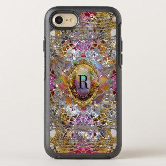 Het Elegante Monogram Girly van Regardez dans OtterBox Symmetry iPhone 8/7 Hoesje