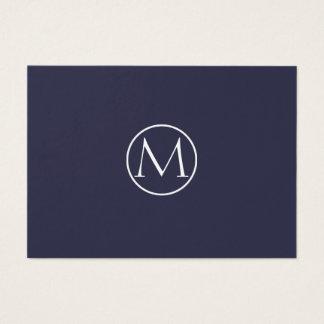 Het Elegante Monogram van de indigo Visitekaartjes