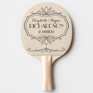 Het elegante Monogram van het Huwelijk kiest Uw Tafeltennis Bat