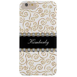 Het elegante Monogram van het Juweel van Dames Barely There iPhone 6 Plus Hoesje