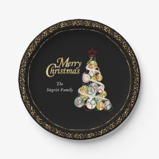 Het elegante Ontwerp van de Kerstboom Papieren Bordje