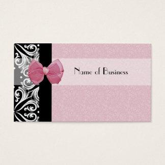 Het elegante Parijse Roze Lint van het Damast Visitekaartjes