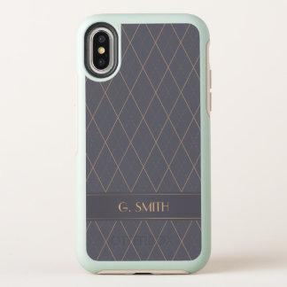 Het elegante Patroon van het Art deco OtterBox Symmetry iPhone X Hoesje