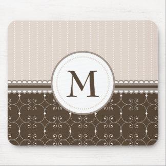 Het elegante Patroon van het Monogram van de Douan Muismatten