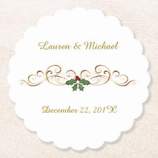 Het elegante Rode Huwelijk van Kerstmis van de Viltjes