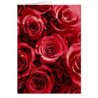 Het elegante Rood nam het Boeket van het Huwelijk Kaart