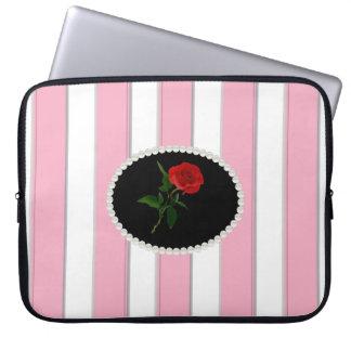Het elegante Roze Laptop van Strepen Sleeve met