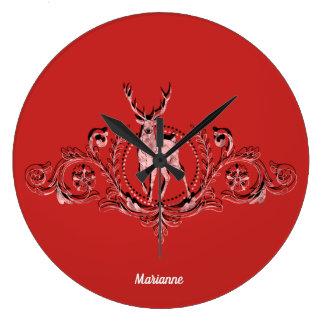 Het elegante Roze Monogram van Herten Grote Klok