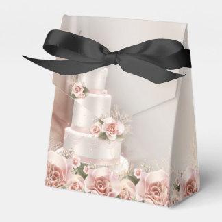 Het elegante Roze nam het Huwelijk van de Cake van Bedankdoosjes