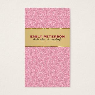 Het elegante Roze schittert Patroon met Gouden