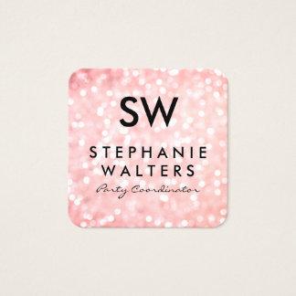 Het elegante Roze schittert Vierkante Visitekaartjes