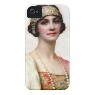 Het elegante schilderen van de Vrouw van de Mode iPhone 4 Hoesje