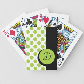 HET ELEGANTE SPELEN CARDS_ 90 GROENE STREEP DOTS/B POKER KAARTEN