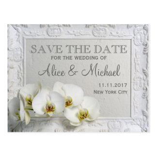 Het elegante stijlhuwelijk bewaart de datum briefkaart