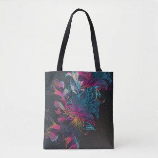 Het elegante Veelkleurige BloemenCanvas tas van