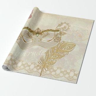 Het elegante Verpakkende Document van de Maskerade Cadeaupapier