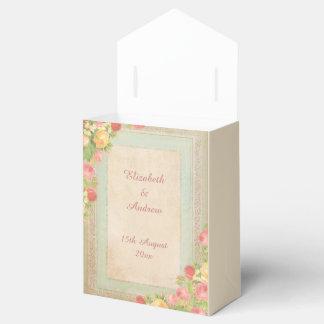 Het elegante Vintage Huwelijk van Rozen Bedankdoosjes