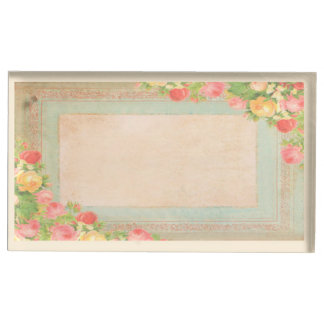 Het elegante Vintage Huwelijk van Rozen Tafelnummer Houder
