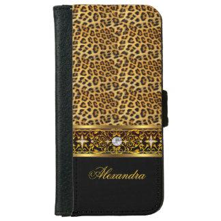 Het elegante Wilde Zwarte Gouden Juweel van de iPhone 5 Portefeuille Hoesje