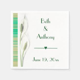 Het elegante Witte Huwelijk van de Lelie Papieren Servet