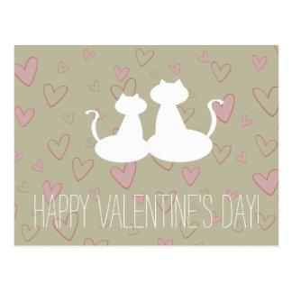 Het elegante Witte Valentijnse Briefkaart van