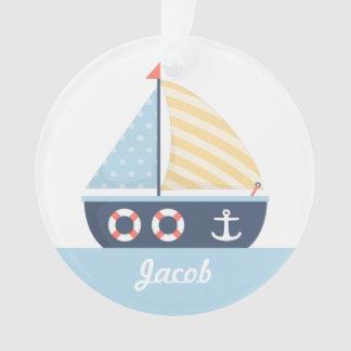 Het elegante ZeevaartThema van de boot van het Ornament