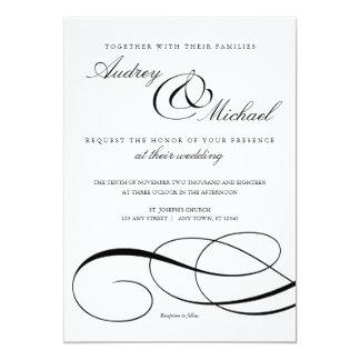 Het elegante Zwart-witte Huwelijk van de Kaart