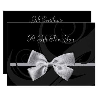 Het elegante Zwarte Certificaat van de Gift van de 8,9x12,7 Uitnodiging Kaart