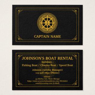 Het elegante Zwarte Goud van de Huur van de Boot Visitekaartjes
