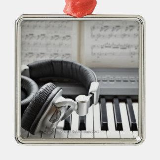 Het elektrische Toetsenbord van de Piano Zilverkleurig Vierkant Ornament