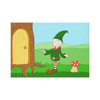 Het Elf van de kerstman Canvas Print