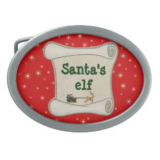 Het elf van de kerstman gesp