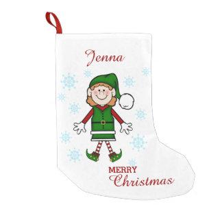Het Elf van de kerstman (Meisje) Kleine Kerstsok