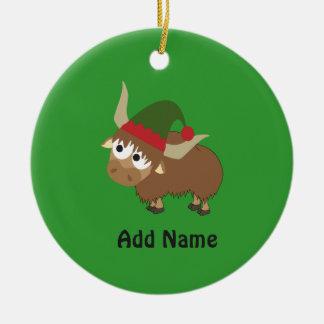 Het Elf van Kerstmis van jakken Rond Keramisch Ornament