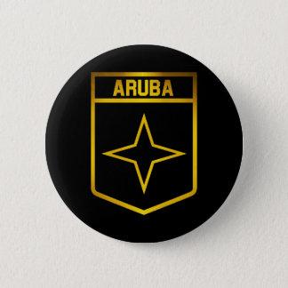 Het Embleem van Aruba Ronde Button 5,7 Cm