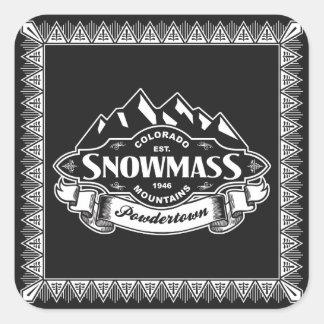 Het Embleem van de Berg van Snowmass Vierkante Sticker