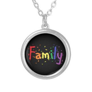 Het Embleem van de Familie LGBT Zilver Vergulden Ketting