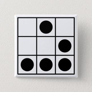 Het Embleem van de hakker Vierkante Button 5,1 Cm