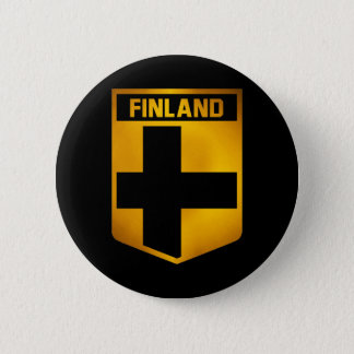 Het Embleem van Finland Ronde Button 5,7 Cm
