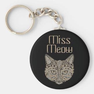 Het embleem van het de kattenjuweel van het art sleutelhanger