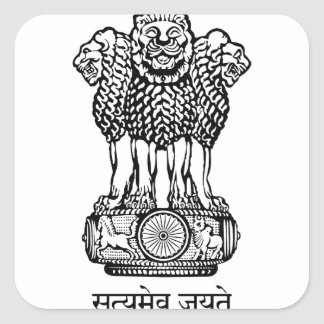 het embleem van India Vierkante Sticker
