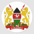 het embleem van Kenia Ronde Sticker